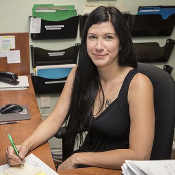 Caroline Boucher, Receptionist Goberce